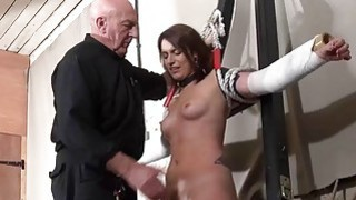 Bastinado and amateur bdsm dungeon of private slav