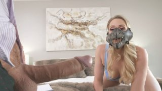 Blonde Mia Malkova gets her face fucked by Keiran Lee