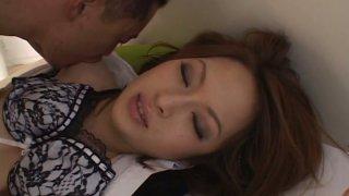 Sex hungry Japanese babe Hikaru Houzuki gets her pussy eaten with pleasure