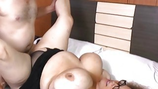 AgedLove chubby brunette horny man and bed great c