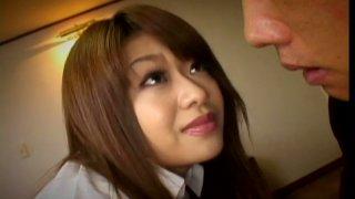 Perverse dude finger fucks beaver of Japanese babe Nagisa Sasaki in close up sex video