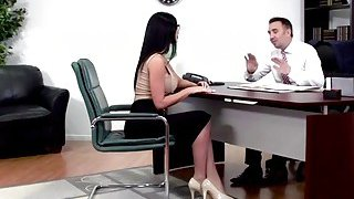 Big tits Jasmine Jae sucks cock of the best lawyer