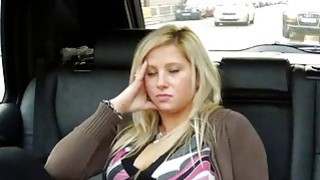 Blonde squirts and fucks in taxi