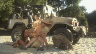 Hot African expedition with Sandi Jackmon and Mikayla Mendez