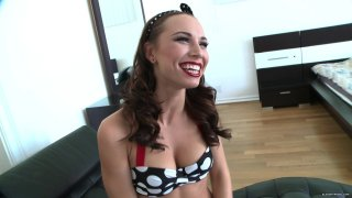 Psychobilly video with slutty American student and her friend