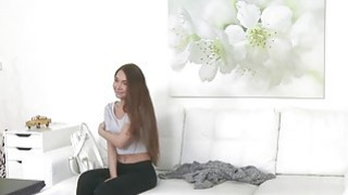 Slim small tits amateur bangs fake agent in casting